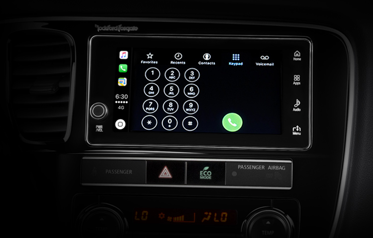 2019 Mitsubishi Outlander PHEV Features Technology Touchscreen Apple CarPlay Call