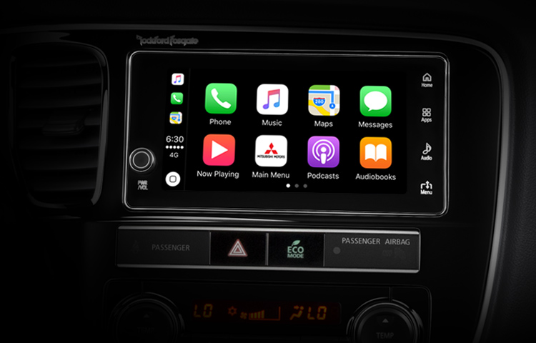 2019 Mitsubishi Outlander PHEV Features Technology Touchscreen Apple CarPlay Home