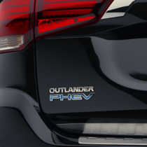 2021 Mitsubishi Outlander PHEV electric SUV rear light and badge
